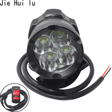 Universal Motorcycle bicycle fog lights LED Mini Motorbike driving Auxiliary lamp High Brightness bulb white 6000k