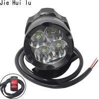 Universal Motorcycle bicycle fog lights LED Mini Motorbike driving Auxiliary lamp High Brightness bulb white 6000k