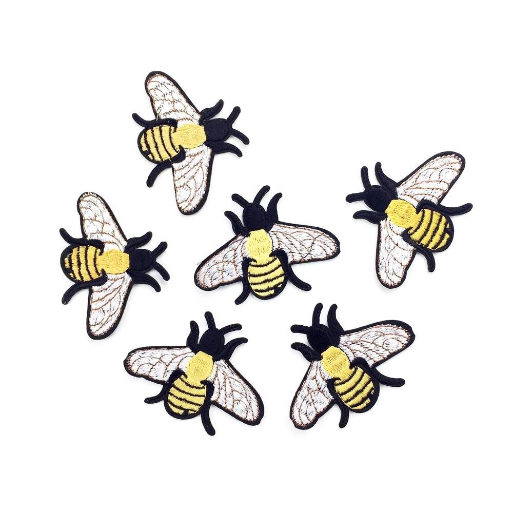 10 Stücke Nette Gelbe Biene Eisen Auf Flecken Nähen Auf ...