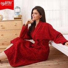 Hilift 100% algodão terry roupões de banho 100% algodão roupão de banho roupão feminino amantes