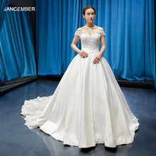 jancember wedding dress with floor length bride dress