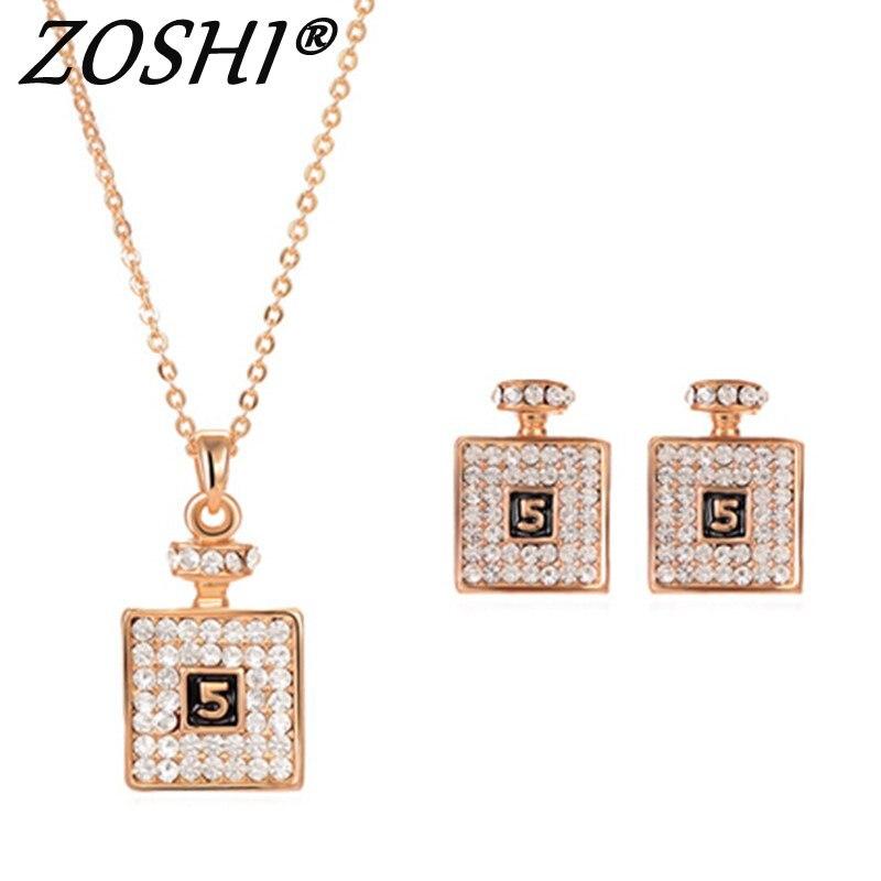 ZOSHI Moda Venda Quente Conjunto de Jóias de Cristal Austríaco Colar  Pingente Brincos Para Mulheres Jóia Do Casamento Conjuntos De Jóias de Noiva bf10eac9f2