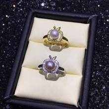 New Design Shiny Silver Plated Adjustable Ring Set Blank,Sui