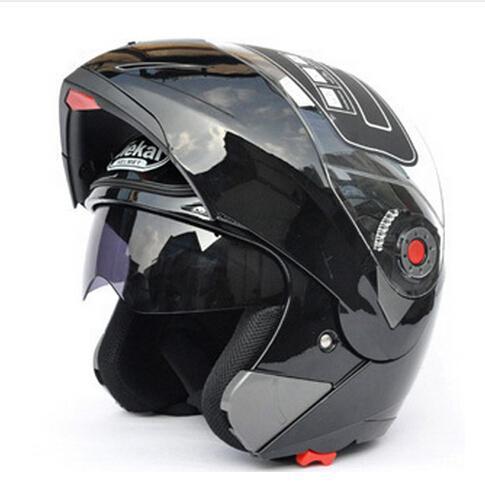 Discount Safe Flip Up Motorcycle Helmets Moto Helmet Motocross Motorbike Helmet With Inner Sun Visor JIEKAI-105 DOT ECE