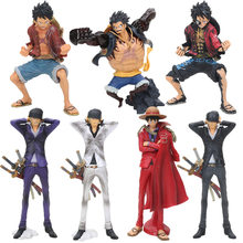 18cm - 26cmAnime One Piece King Of Artist The Monkey D Luffy king of coloring zoro PVC Action Figure Collectible Model Toy(China)
