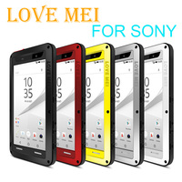 LOVE MEI Powerful Drop Dirt Water resistance gorilla glass+Aluminum Metal Armor Case for Sony Xperia Z3 Z4 Z5/ XA1 Ultra/ M5/ T2