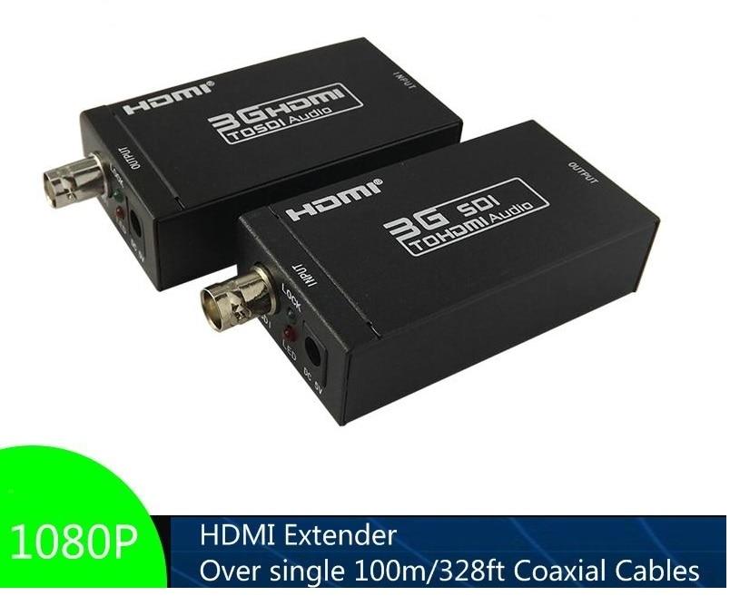 Hdmi Extender Über Einzel Koaxial Kabel 1080 P Ausdauernd Bis Zu 100 M/328ft Hdmi-sdi Und Sdi-hdmi