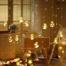 妖精花輪 LED ボールストリングライト結婚式クリスマス誕生日パーティー祭の装飾 Led ライト装飾カーテンライト
