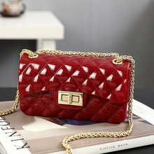 Summer Silica Gel Female Mini Chain Jelly Bag Women Diamond Lattice Small Flap Girl Casual Clutch Silicone Shoulder Bags