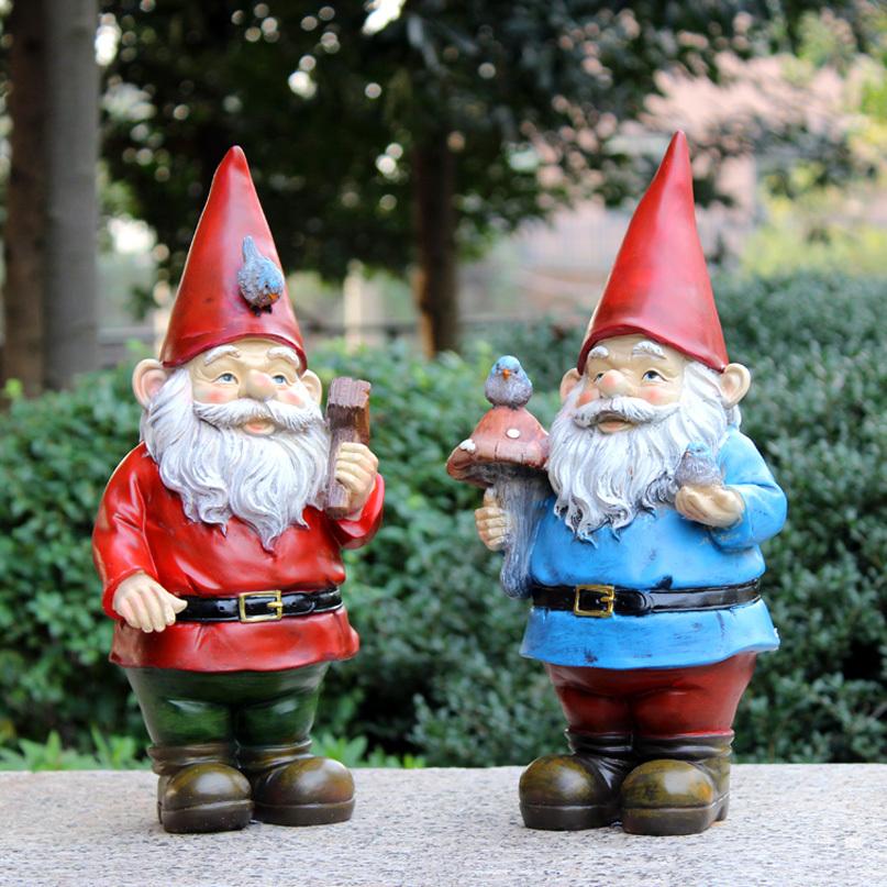 hecho a mano de la vendimia libre de resina figuras de jardn gnomos para venta poli