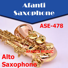 Afanti Music Eb tone /Gold Brass / Gold finish Alto Saxophone (ASE-478)