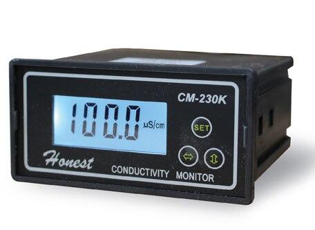 Testeur de conductivité en ligne analyseur de compteur relais de Contact NC 0-2000us/cm erreur 2% FS ATC sortie d'alarme
