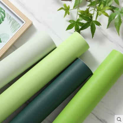 Nordic simple plain dark green self adhesive wall stickers living room bedroom TV background wall solid color wallpaper