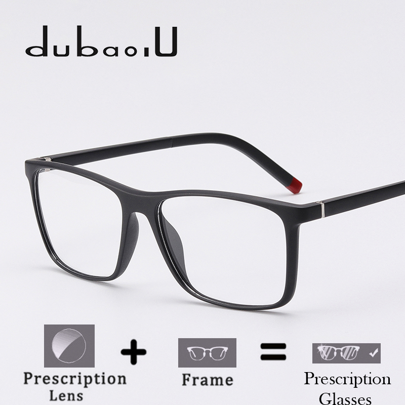 70acfe165c TR90 Prescription Glasses Men Brand Designer Square Clear Computer Optical  Myopia Prescription Eyewear Fashion  MZ04 05-in Prescription Glasses from  Apparel ...
