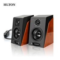 HLTON 2PCS Portable USB Wired Speaker Multimedia Computer Speaker With 3 5mm Audio Loudspeaker For Laptop
