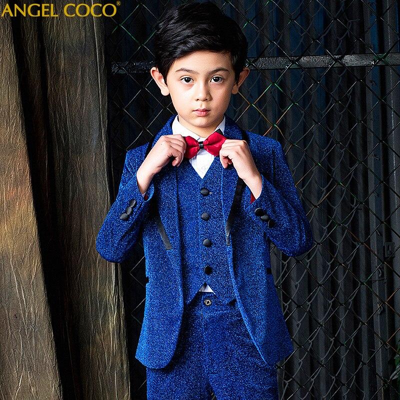Костюмы для мальчиков на свадьбу, костюмы для мальчиков, строгий костюм для мальчиков, Enfant Garcon Mariage Terno Infantil Disfraz Infantil 2019 Menino