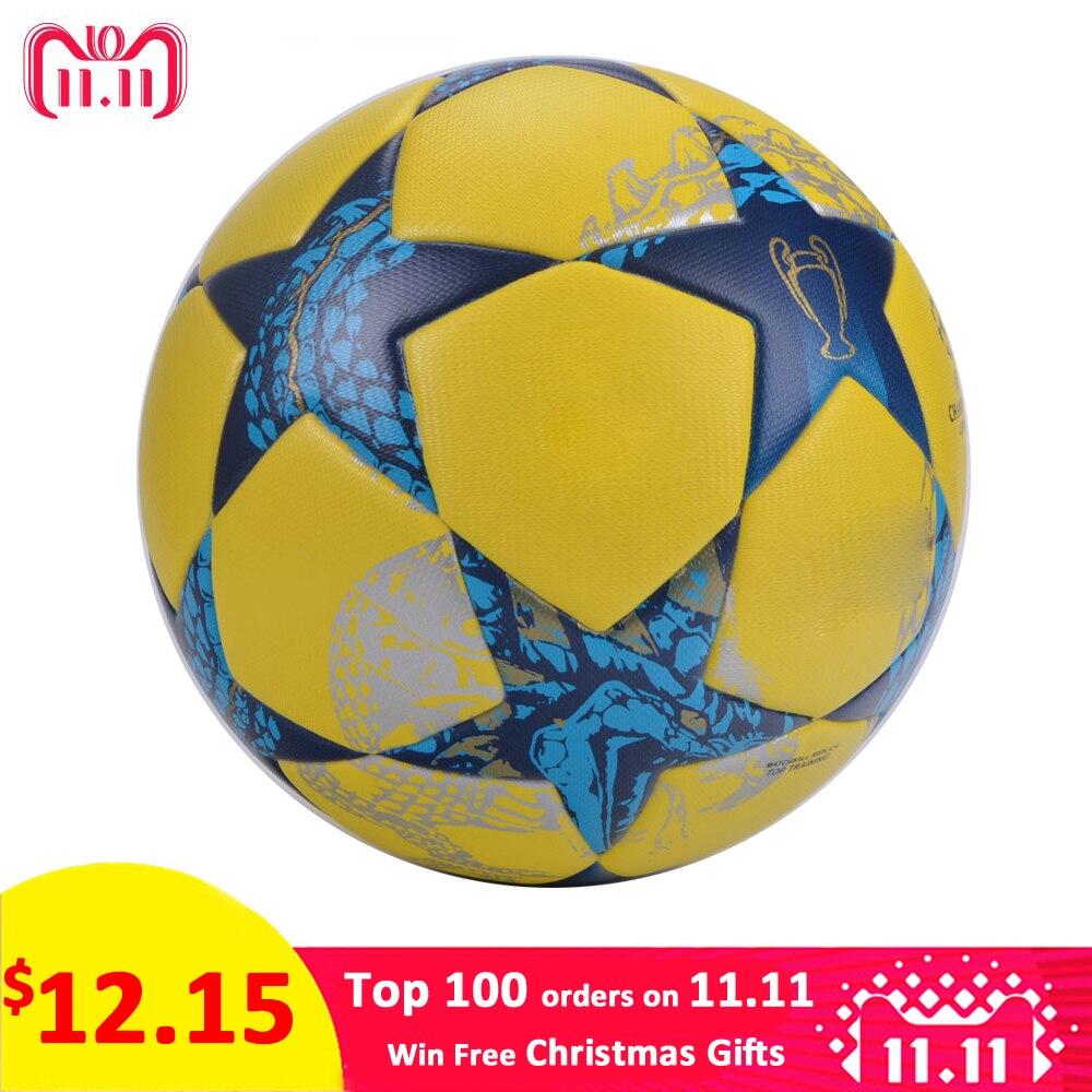Nuevo balón de fútbol tamaño oficial 4 tamaño 5 fútbol Liga Fútbol exterior  PU cuero equipo deportes entrenamiento pelota fútbol voetbal 3633e922ffd43