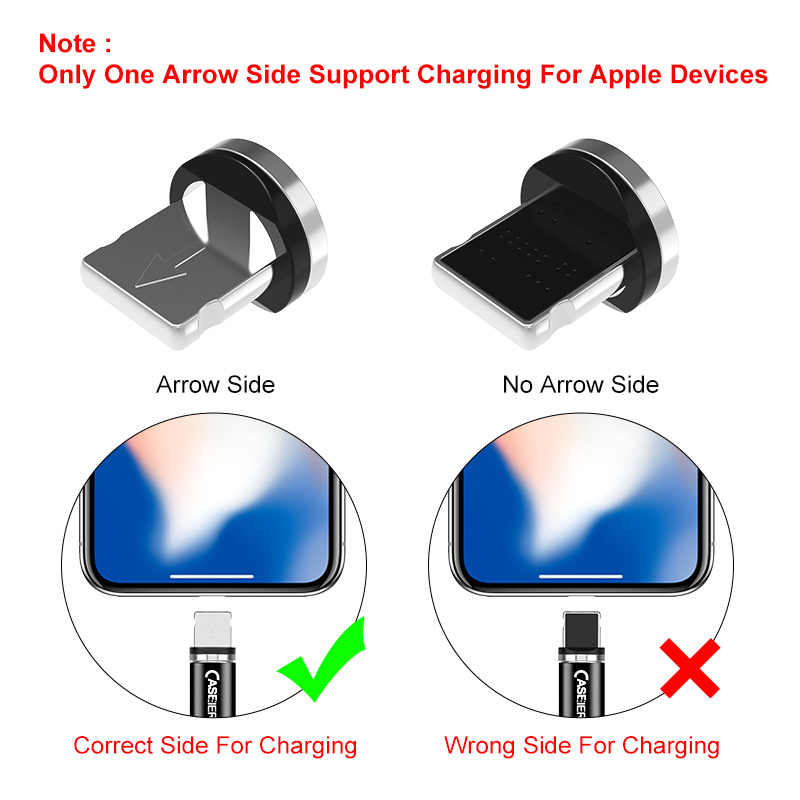 Caseier Kabel Micro USB Tipe C UNTUK iPhone USB Mikro Tipe-C Magnet Charger Kabel untuk Huawei Samsung xiaomi Ponsel