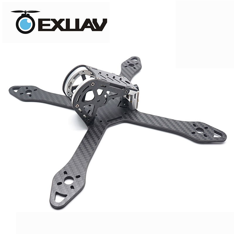EXUAV 208 Aluminium Alloy X-Structure 3.5mm Arm Racing Drone Carbon Fiber Frame kit For FPV Quadcopter 5 inch propeller with LED vik max adult kids dark blue leather figure skate shoes with aluminium alloy frame and stainless steel ice blade