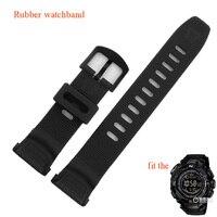 Watchbands מיוחד שחור שעונים ספורט גומי חגורת רצועות fit PRG-130Y/PRW-1500Y שעון השחייה טיפוס אביזרי waterproof