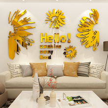 Creative INS Window flower DIY Children's room bedroom home living room TV background wall decoration 3D acrylic wall stickers creative ins cartoon car diy children s room bedroom home living room tv background wall decoration 3d acrylic wall stickers