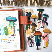 12Pcs/Pack Cartoon Mushroom Head Person Stickers DIY Craft Scrapbooking Album Journal Happy Planner Decorative Stickers(China)