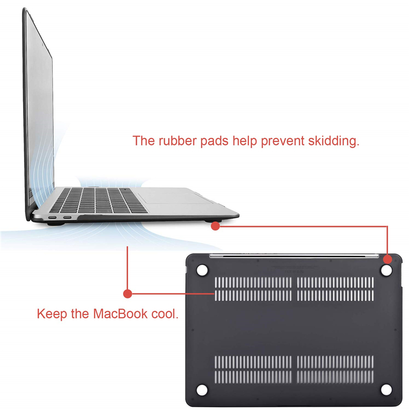 """Image 3 - MOSISO Matte Hard Laptop Sleeve Cover Case For Macbook Air 13 case Funda case For Mac Book new Air 13"""" with Touch ID A1932 2018-in Laptop Bags & Cases from Computer & Office"""