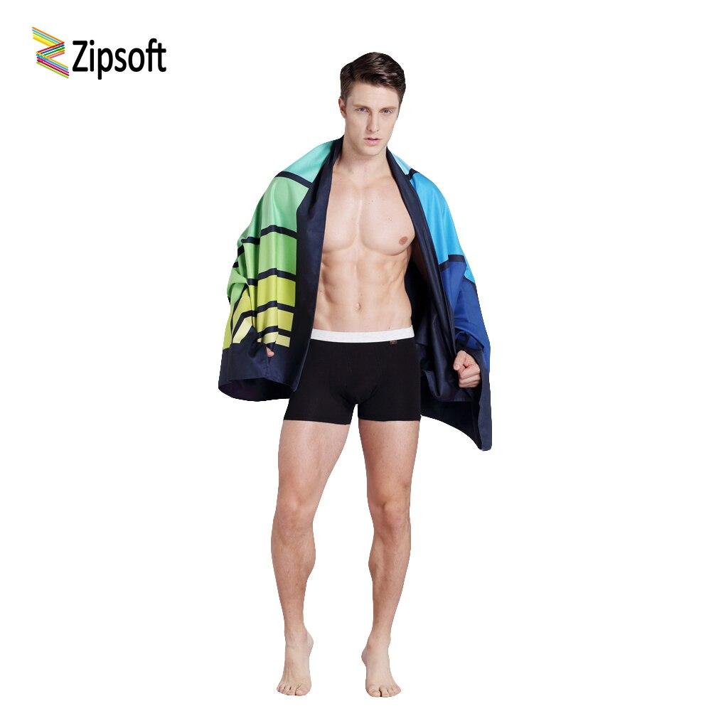 Zipsoft Grande serviette De Plage 90*170 cm du corps voyage serviette compact antibactérien à séchage rapide absorbant l'eau Tapis De Yoga Serviettes pour Adultes