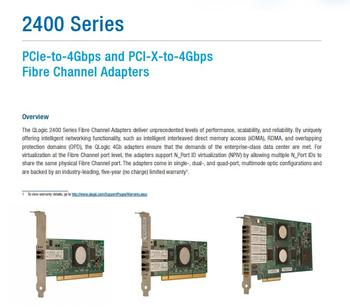 RaidStorage QLogic QLA2460-CK QLA2460 1 Port 4Gbps Single SFP+ FC SR-Optic PciX Controller Fibre Channel Adapters HBA Card