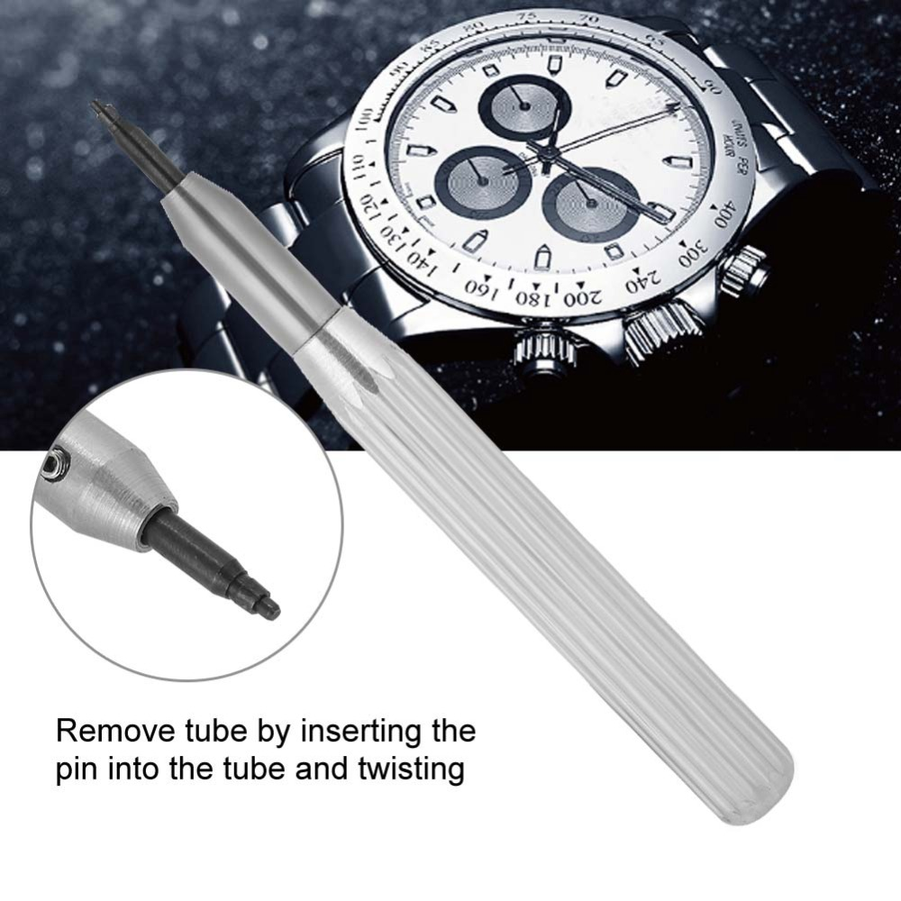 Genossenschaft Professionelle Uhr Krone Rohr Einfügen Entferner Werkzeug Mit 4 Pins Uhr Reparatur Teile Werkzeuge Für Uhrmacher Uhr Schlauch Einfügen Opener Exzellente QualitäT Uhrenzubehör