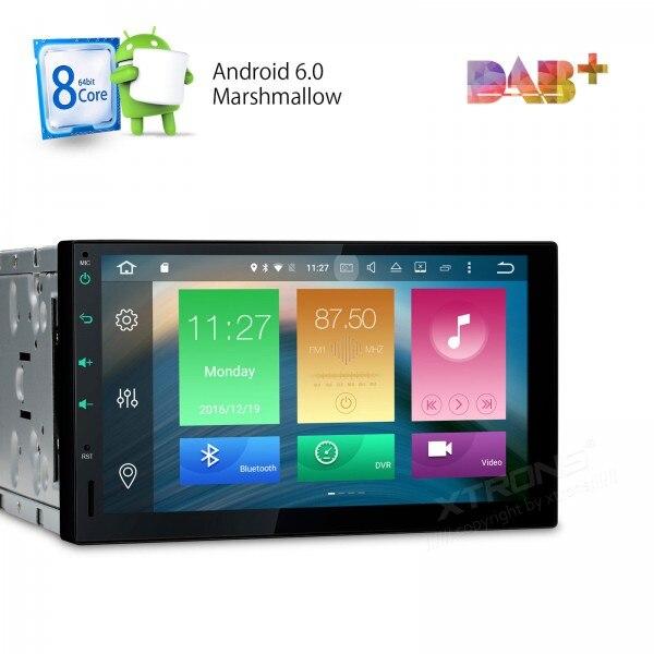 2 הדין אנדרואיד 6.0 רכב רדיו שמונה 8 אוקטה Core 32 גרם ROM 2 גרם RAM Wifi GPS Nav 4 גרם 3 גרם TPMS 4 K וידאו OBD2 סטריאו RDS DAB + אוטומטי לנווט