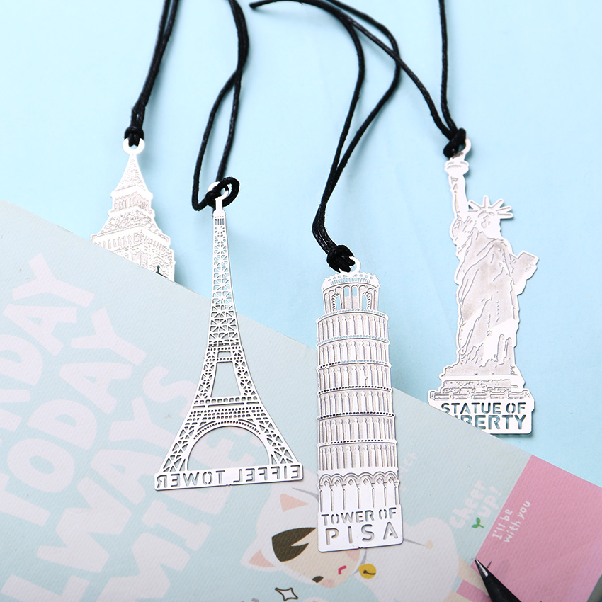 1pc Retro London Eiffel Tower Statue Of Liberty Bookmark Stationery For Student Gift Office Supplies Book Mark In From School On