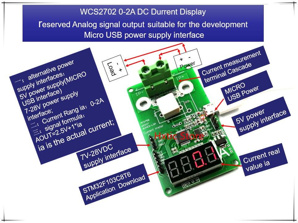 NEW 1PCS/LOT WCS2702 WCS 2702 0-2A DC Current Display Meter