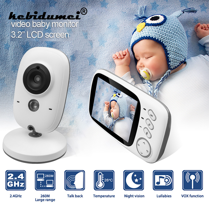 2 4Ghz Wireless Video Color Baby Monitor High Resolution 3 2 inch Baby Nanny Security Camera