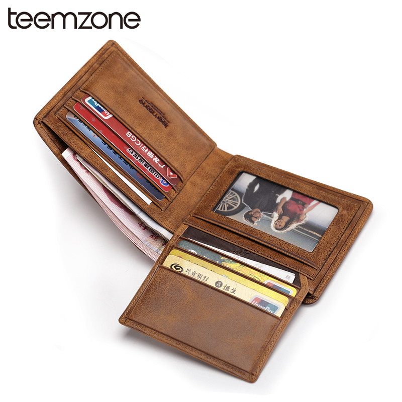 teemzone Hot Men's Genuine Leather Fshion Bifold Slim Wallet Credit Card Holder Cash Receipt Holder ID Window Wallet 2 Size Q436 adjustable folding extendable brake clutch levers for kawasaki versys 1000 w800 zzr1200 zrx1100 1200 8 colors