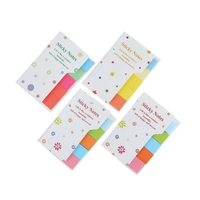Bonito Arco Íris Coloridas Notas Pegajosas Almofadas de Memorando N Vezes Post it Adesivo Escritório material escolar suprimentos