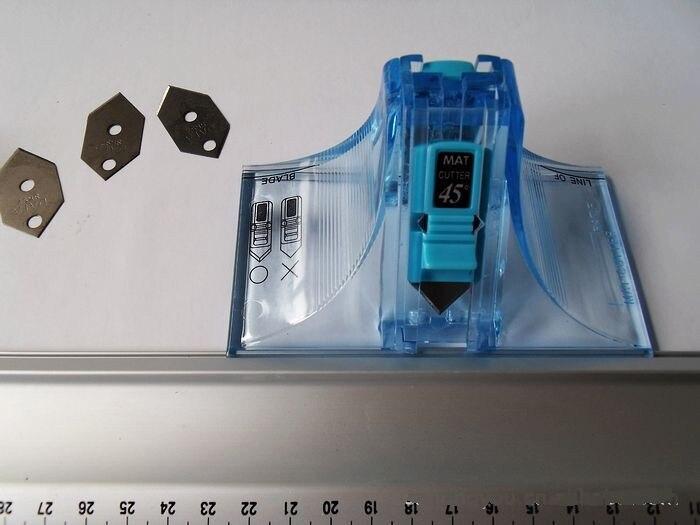 Hoek van 45 & 90 graden DAFA 2071 MOUNT CUTTER MET MA 40 ALUMINIUM HEERSER 40 cm Voor snijden karton, leer, papier-in Naai Hulpmiddelen & Accessoires van Huis & Tuin op  Groep 3