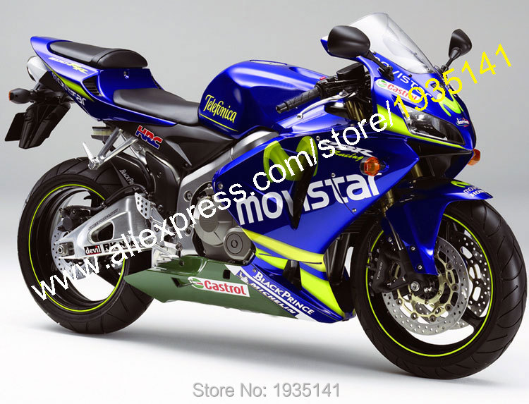 Hot Sales,Movistar Motorcycle Fairing For Honda F5 CBR 600 RR 2005 2006 CBR600RR 05 06 ABS Moto Body Kit (Injection molding) hot sales for honda cbr600rr 2003 2004 cbr 600rr 03 04 f5 cbr 600 rr blue black motorcycle cowl fairing kit injection molding