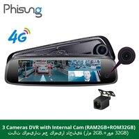 Phisung 3 CHS cameas RAM 2GB+ROM32GB Car Mirror Camera dvrs Android ADAS GPS Navigation DashCam 1080P hd car dvr dash camera