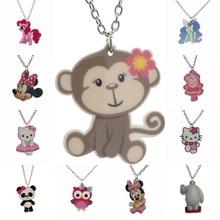 "[$5 Minimum]Fashion Girls Kids Gift Jewelry Cute Monkey/Horse/Owl Pendant 16"" Short Chain Necklace Free Shipping KS133"