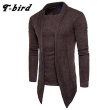 T-Bird 2018 Hot Sale Clothing Spring Cardigan Male Fashion Quality Cotton Sweater Men Casual Gray Redwine Mens Sweaters