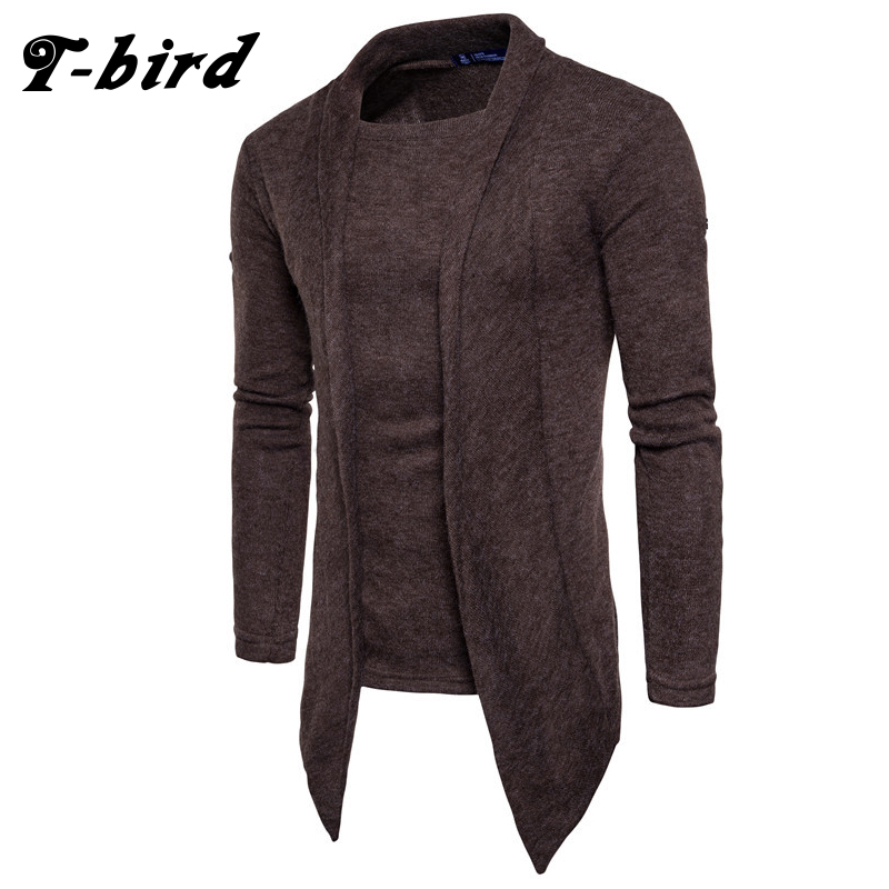 T-Bird 2018 Hot Sale Clothing Spring Cardigan Male Fashion Quality Cotton Sweater Men Casual Gray Redwine Mens Sweaters ...