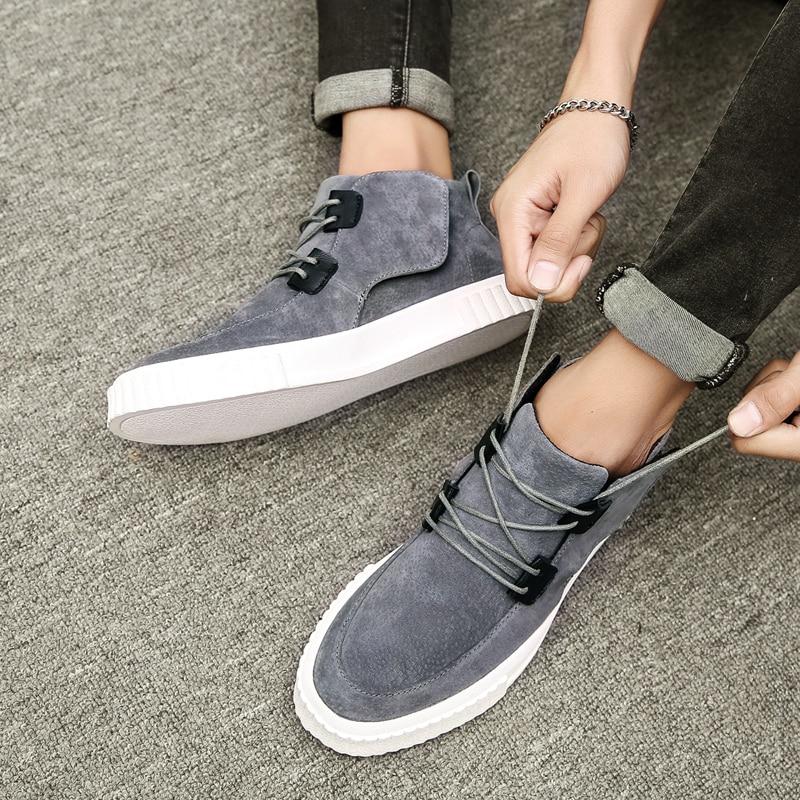 Mâle Designer Kaki À khaki 2018 Marche De Hommes Pour Résistant Chaussures Black Sneakers Casual Jeunes Gris gray Lacets L'usure D'origine wIqZP1If