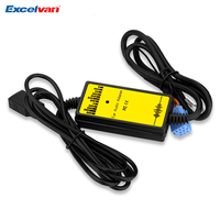 Araç Oto Ses MP3 Çalar Arayüz Aux Adaptörü Kablosu için Audi A2 A3 A4 S4 A6 S6 A8 S8 8 P USB + AUX Ses Adaptörü 3.5mm