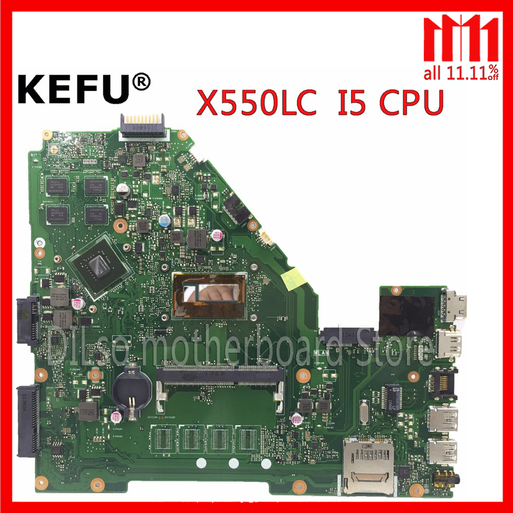 KEFU X550LC motherboard for ASUS X550LC X550lb A550LB A550LC X550LN laptop motherboard I5 CPU original Test mainboard in stock цена