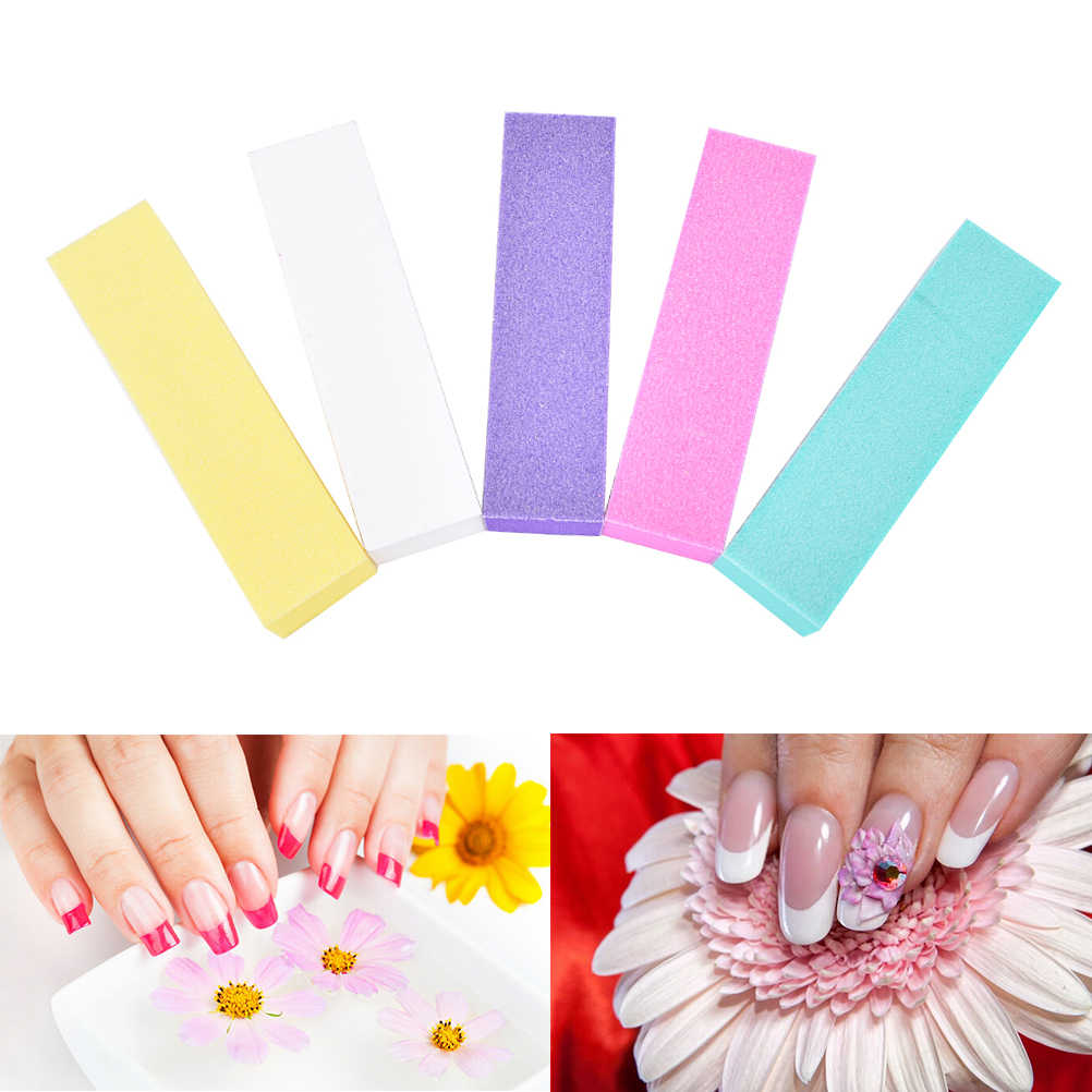 แฟ้มเล็บสำหรับเจล UV GEL เล็บบัฟเฟอร์ขัดฟองน้ำ DIY Nail Art บัฟเฟอร์เล็บแฟ้มหลายสไตล์ร้อนขาย