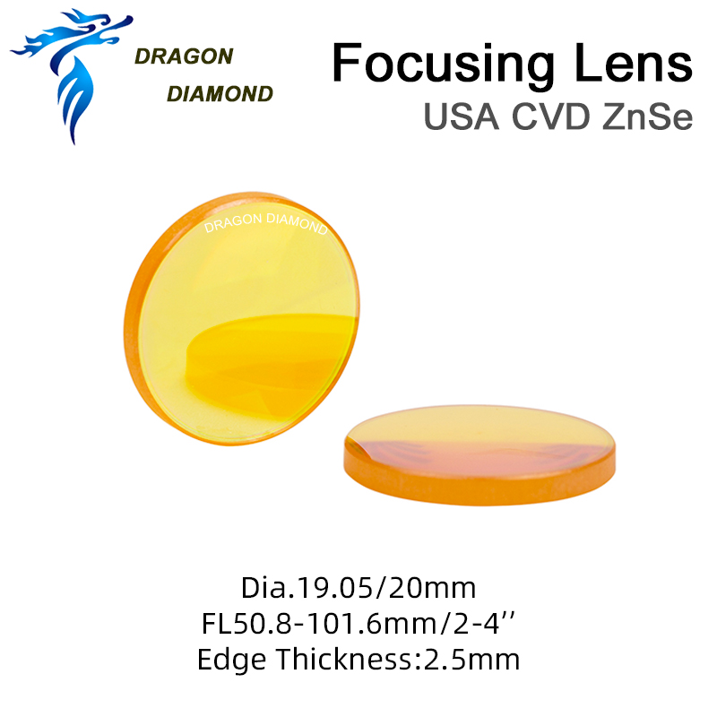 II-VI USA ZnSe Focus Lens Diameter 20mm FL 50.8-63.5mm 2-2.5 for CO2 Laser Engraving Cutting MachineII-VI USA ZnSe Focus Lens Diameter 20mm FL 50.8-63.5mm 2-2.5 for CO2 Laser Engraving Cutting Machine