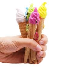 30 Pcs Ice Cream Shape Cute Creative Gel Pen 0.38 MM Black Refill Office Stationery Pen Wholesale New Unique Gift Pen
