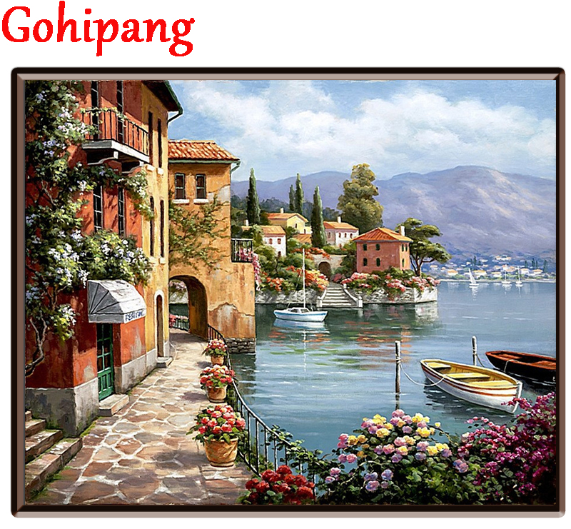 New font b home b font decor pictures on canvas diy oil painting by numbers drawing