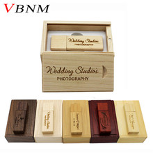 VBNM (over 10 PCS free LOGO) Photography Customer LOGO Wooden usb+BOX usb flash drive pendrive 4GB 8GB 16GB 32GB wedding gift